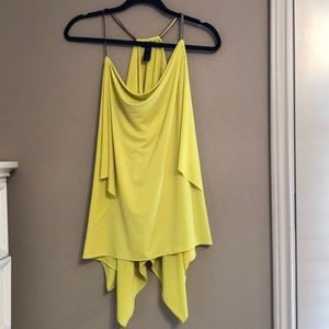 Express Yellow Flowy Top